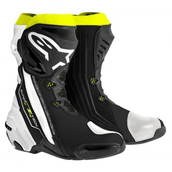 Bottes Moto Alpinestars Supertech R Black White Yellow Fluo
