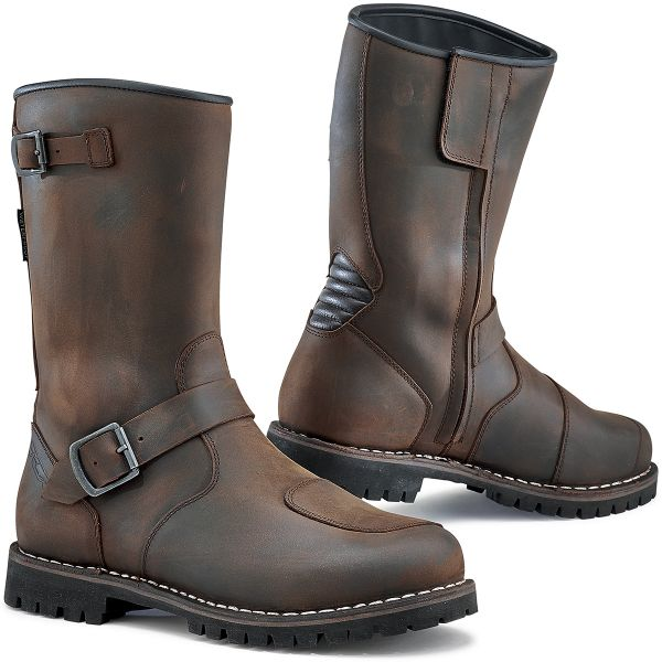 Bottes Moto TCX Fuel Waterproof Vintage Brown