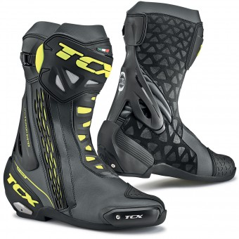 Bottes Moto TCX RT-Race Black Yellow Fluo