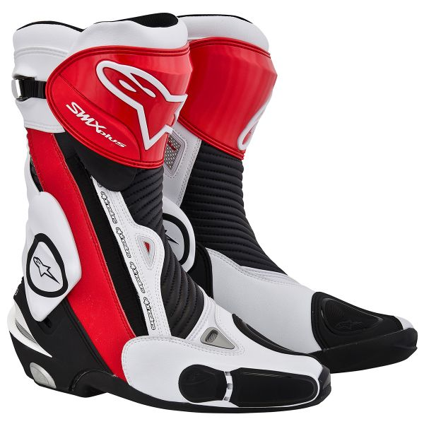 Bottes Moto Alpinestars SMX Plus Black Red White