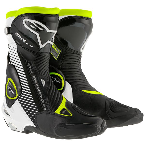 Bottes Moto Alpinestars SMX Plus Black White Yellow Fluo