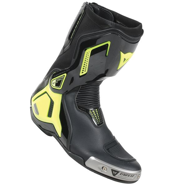 Bottes Moto Dainese Torque Out D1 Black Yellow Fluo