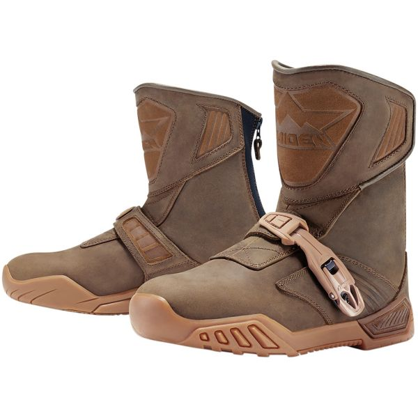 Bottes Moto ICON Treadwell Waterproof Brown