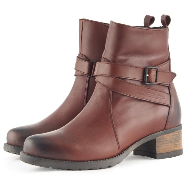 Chaussures Moto Overlap Legacy Lady Brown CE
