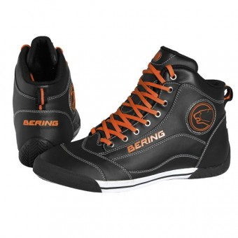 Chaussures Moto Bering Pop Noir Orange