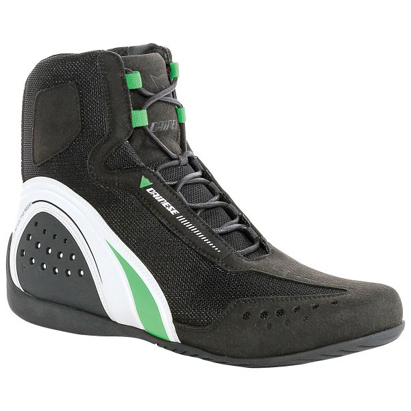 Chaussures Moto Dainese Motorshoe Air Black White Green Fluo