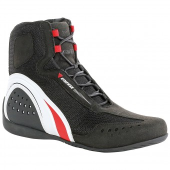 Chaussures Moto Dainese Motorshoe Air Lady Black White Red
