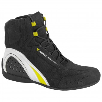 Chaussures Moto Dainese Motorshoe D-WP Black White Yellow Fluo