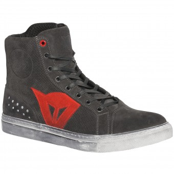 Chaussures Moto Dainese Street Biker Air Carbon Red