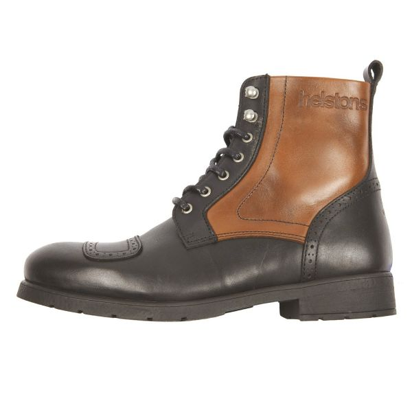 Chaussures Moto Helstons Travel Leather Black Tan