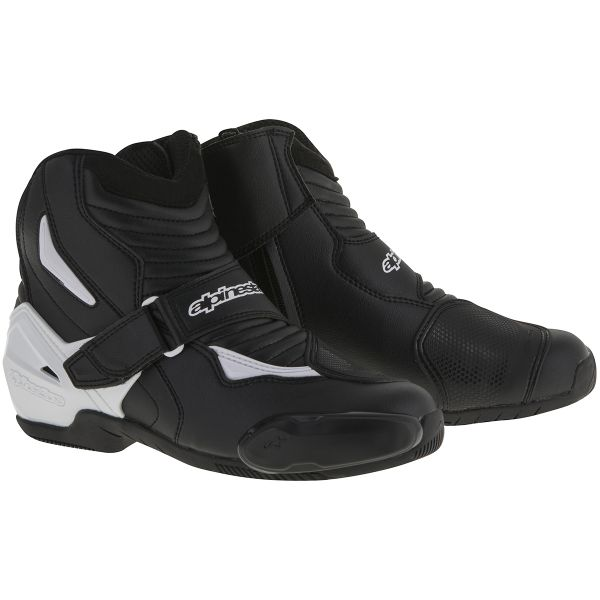 Demi-bottes Alpinestars SMX-1 R Black White