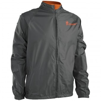 Equipement Pluie Moto Thor Pack Jacket Charcoal Orange
