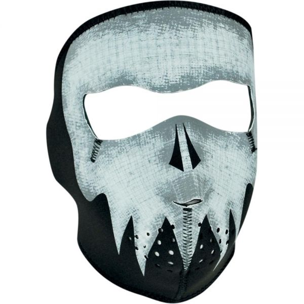Masque Zanheadgear Gray Skull Glow In The Dark