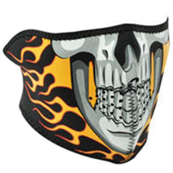 tour de cou moto zanheadgear burning skull au meilleur prix. Black Bedroom Furniture Sets. Home Design Ideas