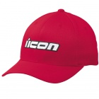 Casquettes Moto ICON Slant Hat Red