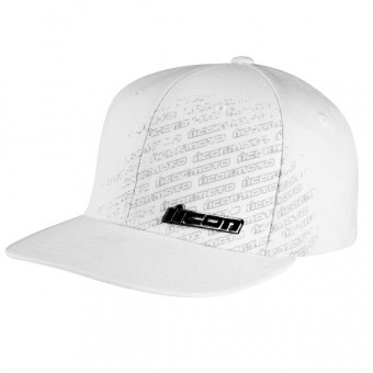 Casquettes Moto ICON Forged Slant Hat White