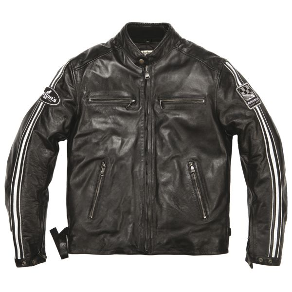Blouson Moto Helstons Ace Leather Rag Black