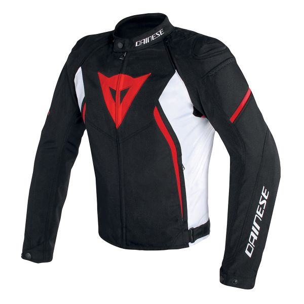 Blouson Moto Dainese Avro D2 Tex Black White Red