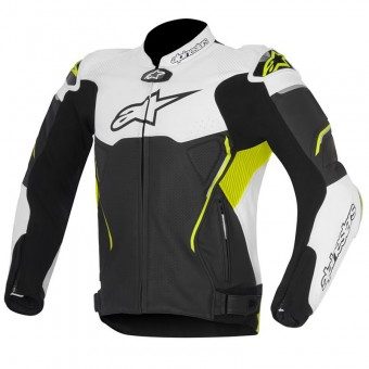 Blouson Moto Alpinestars Atem Black White Yellow Fluo