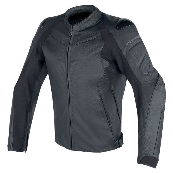 Blouson Moto Dainese Fighter Perforted Leather Black