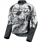 Blouson Moto ICON Hooligan 2 Etched White
