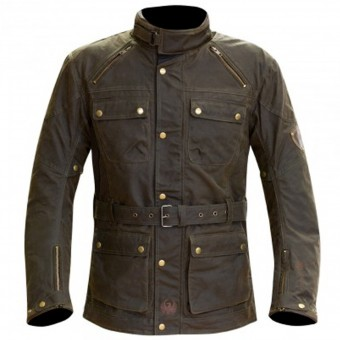Blouson Moto Merlin Rowan Wax Brown