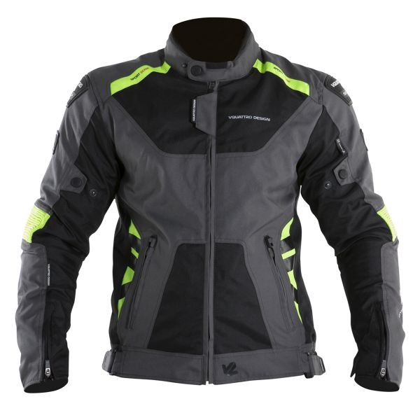 Blouson Moto V'Quattro SP-21 Black Grey Yellow