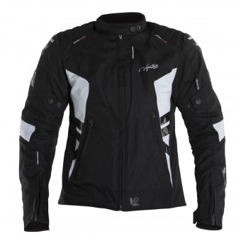 Blouson Moto V'Quattro SP-21 Lady Black White