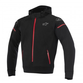 Blouson Moto Alpinestars Sektor Tech Hoodie Black Red