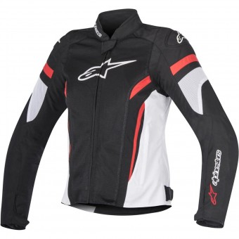 Blouson Moto Alpinestars Stella T-GP Plus R V2 Air Black White Red