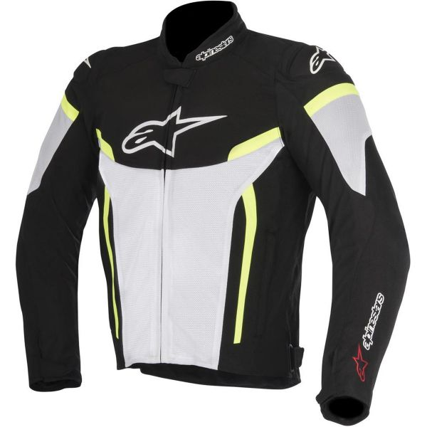 Blouson Moto Alpinestars T-GP Plus R V2 Air Black White Yellow Fluo