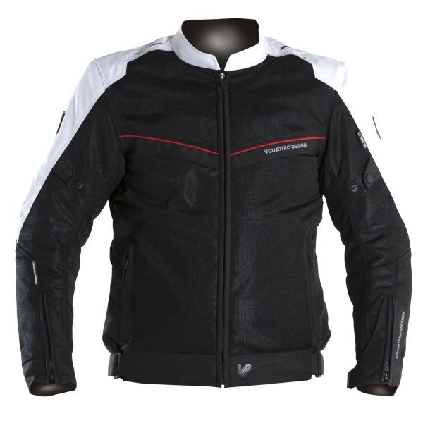 Blouson Moto V'Quattro VE-21 Black White Red