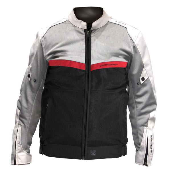 Blouson Moto V'Quattro VE-51 Grey Black Red