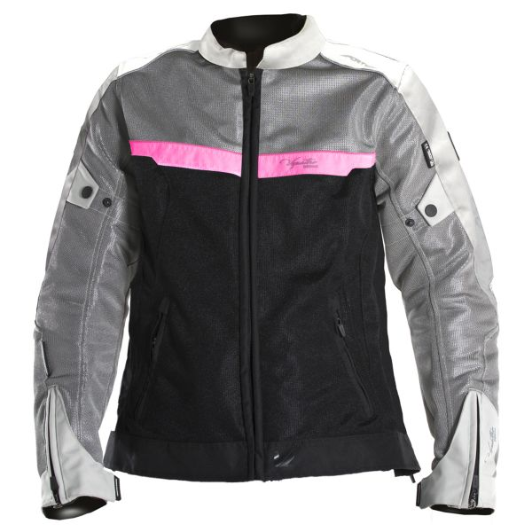 Blouson Moto V'Quattro VE-51 Lady Grey Black Pink