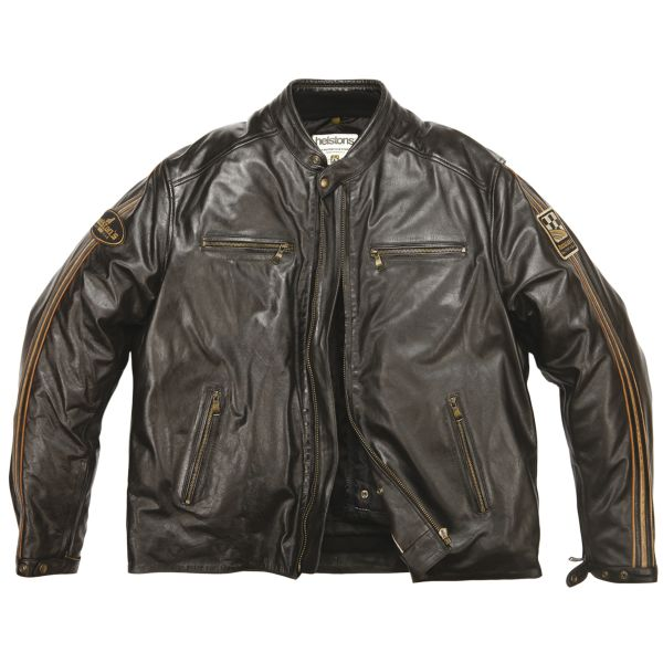 Blouson Moto Helstons Ace Big Body Brown King Size