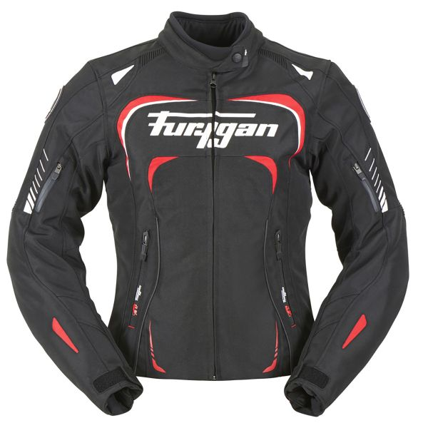 Blouson Moto Furygan Adria Black White Red