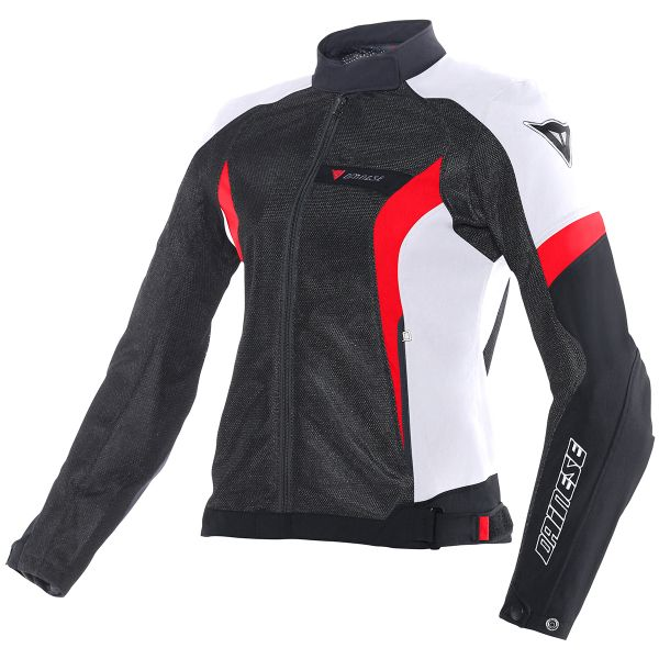 Blouson Moto Dainese Air-Crono Lady Black White Red