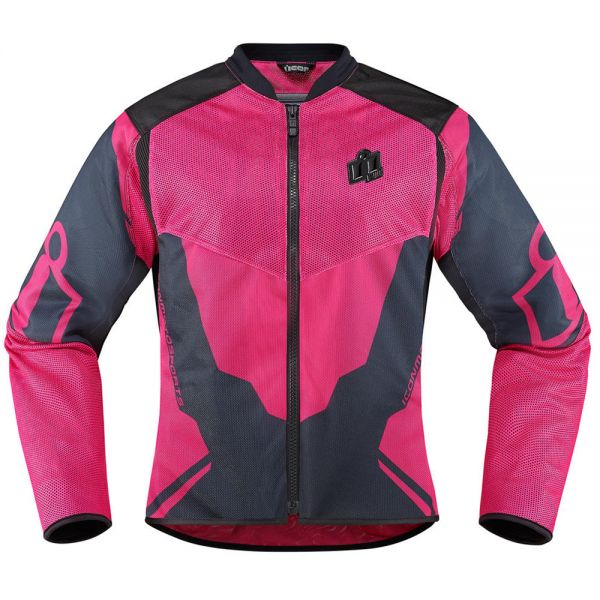 Blouson Moto ICON Anthem 2 Woman Pink