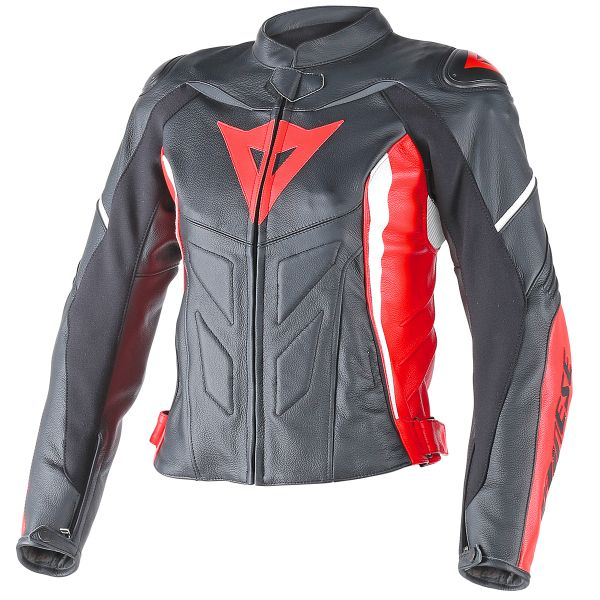 Blouson Moto Dainese Avro D1 Lady Black Red White