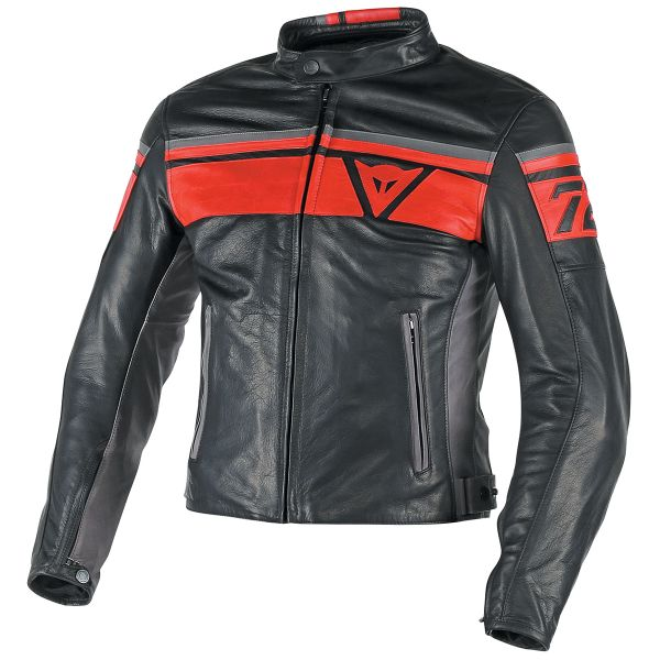 Blouson Moto Dainese Blackjack Black Red