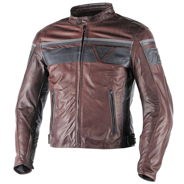 Blouson Moto Dainese Blackjack Brown Black