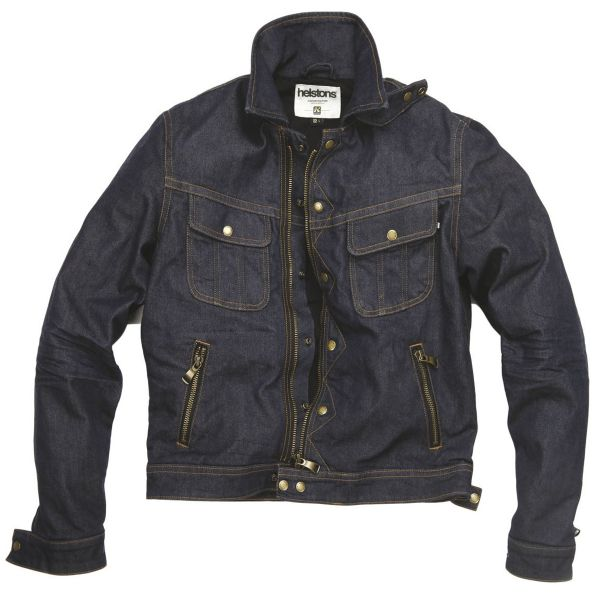 Blouson Moto Helstons Cannonball Cotton Denim Raw