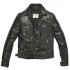 Blouson Moto Helstons Cannonball Leather Rag Black