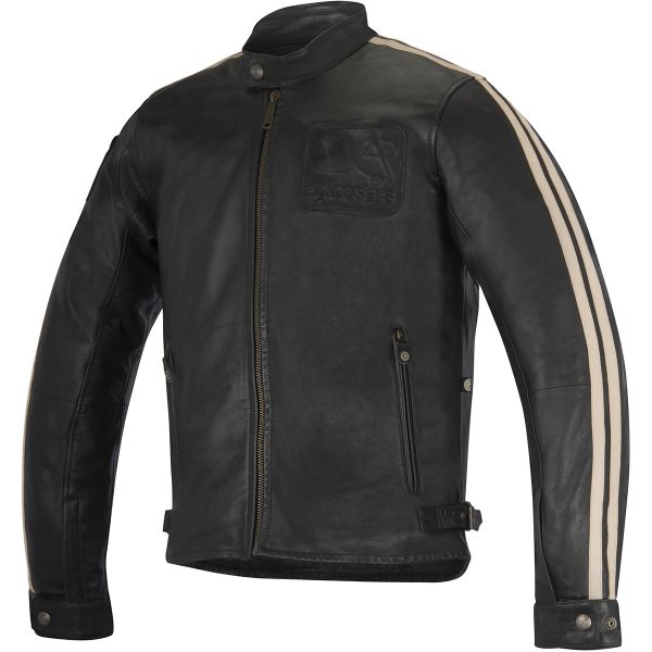 Blouson Moto Alpinestars Charlie Leather Black Sand