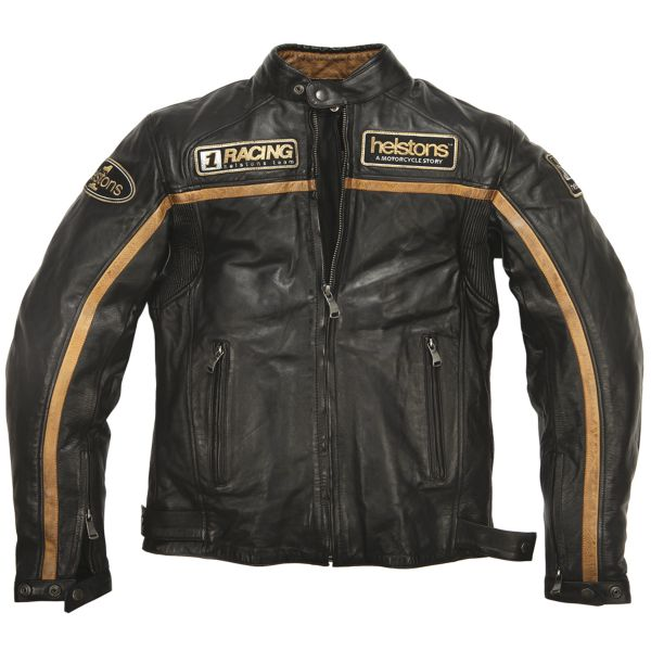 Blouson Moto Helstons Daytona Leather Rag Black