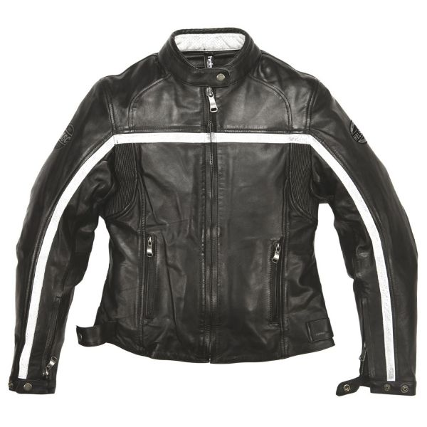 Blouson Moto Helstons Daytona Woman Leather Rag Black