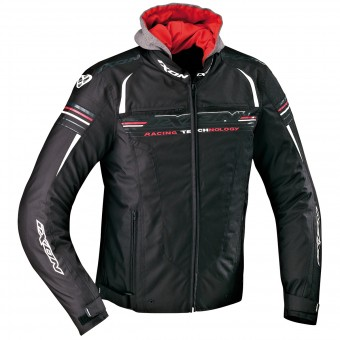 Blouson Moto Ixon Dual Black White Red
