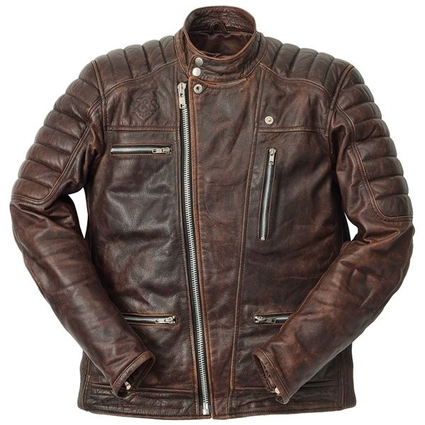 Blouson Moto Ride & Sons Empire Used Brown