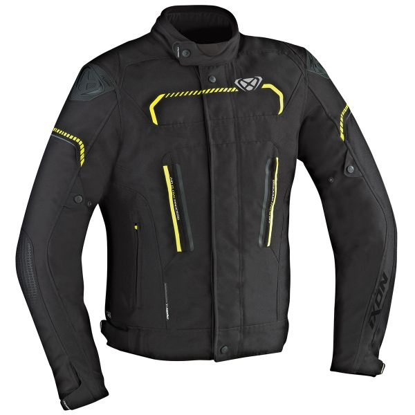 Blouson Moto Ixon Exhale HP Black Yellow Fluo
