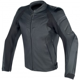 Blouson Moto Dainese Fighter Leather Black